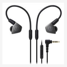 铁三角(Audio-Technica)ATH-LS70iS 双动圈入耳式耳塞/耳机 钛灰色