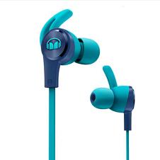 MONSTER/魔声iSport Achieve 爱运动 入耳式耳机 防缠绕线控带耳麦手机耳机 耳塞式跑步运动耳机 蓝色